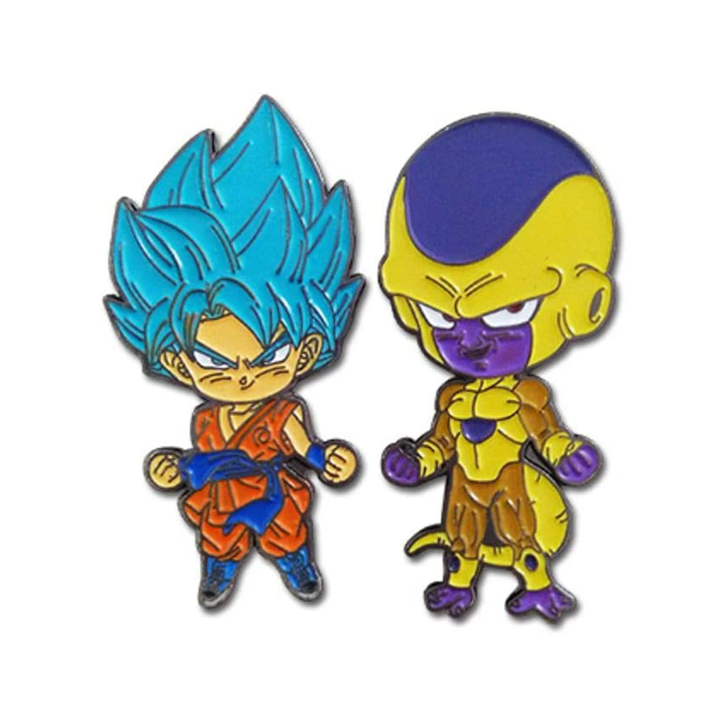 Dragon Ball Super SSGSS Goku & Golden Frieza Pins