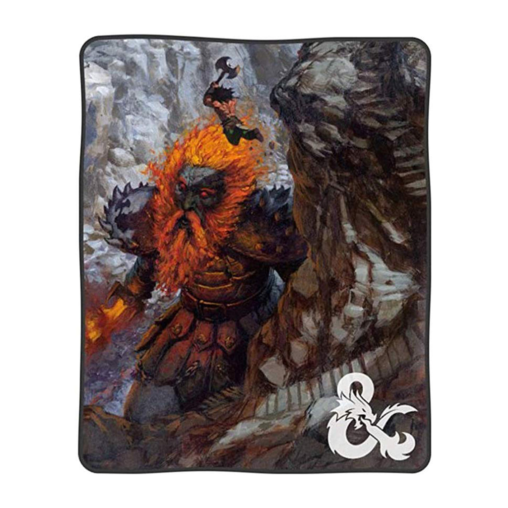 Dungeons And Dragons Digital Art Print Plush Throw