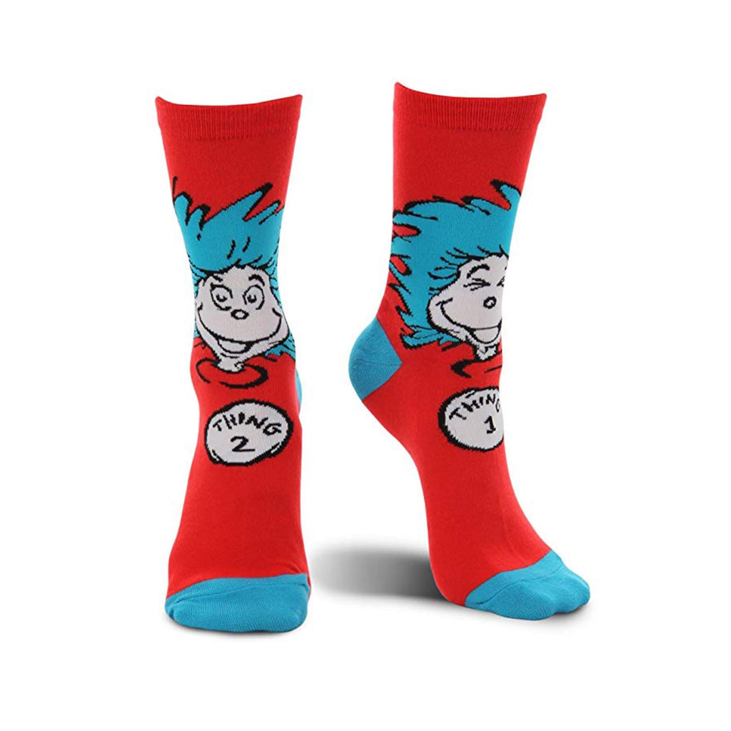 Socks - Elope Dr. Seuss Thing 1 And 2 1 Pair Of Crew Socks