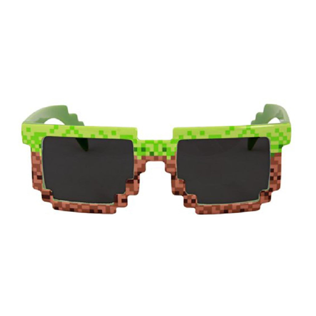 Elope Pixel Brick Green Brown Glasses