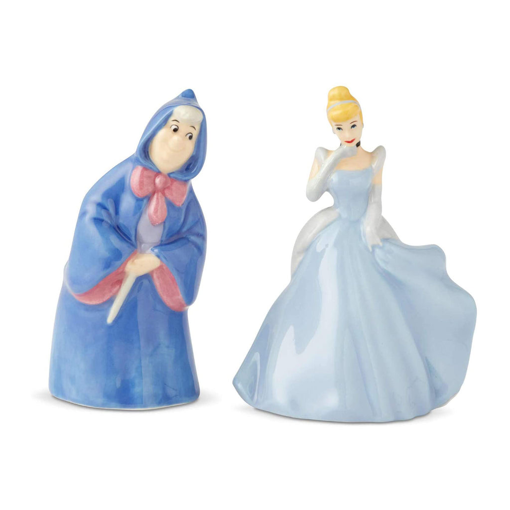 Enesco Disney Cinderella And Fairy Godmother Salt Pepper Shaker Set