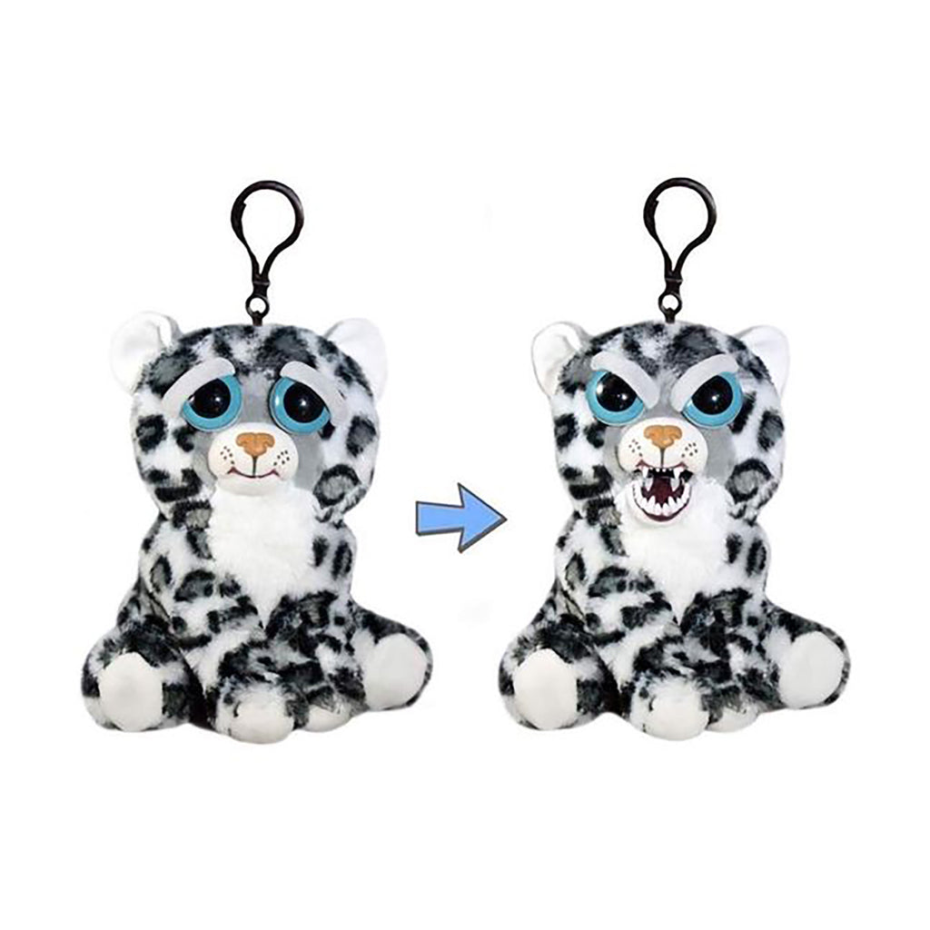 Feisty Pets Mini Lethal Lena Snow Leopard 4.5 Inch Plush Clip