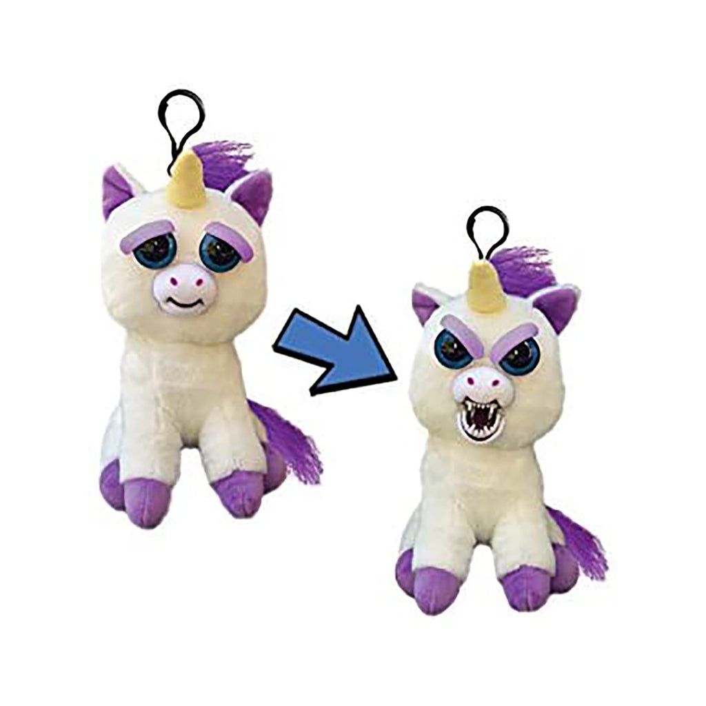 Feisty Pets Mini Unicorn Glenda Glitterpoop 4.5 Inch Plush Clip