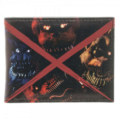 Five Nights At Freddy's Nightmare Evil Faces Bi-Fold Wallet