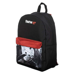 Friday The 13th Classic Theme Black Red Backpack
