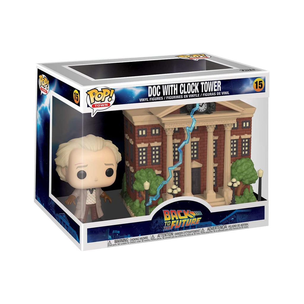 Funko Back To The Future POP Town Doc Clock Tower Set