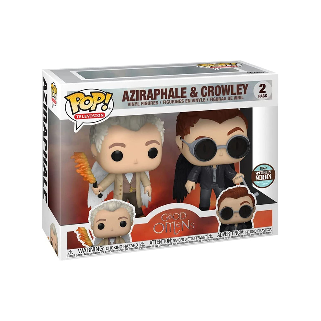 Funko Good Omens POP Aziraphale Crowley Vinyl Figure Set