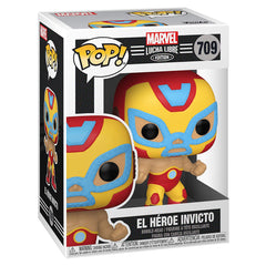 Funko Marvel Lucha Libre POP El Heroe Invicto Iron Man Figure
