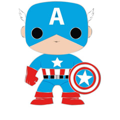 Funko Marvel Pop Pin Captain America Mask And Suit