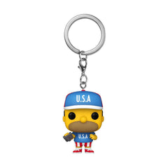 Funko The Simpsons Pocket POP USA Homer Figure Keychain