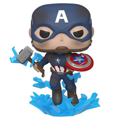 Funko Avengers End Game POP Captain America Mjolnir Shield Vinyl Figure