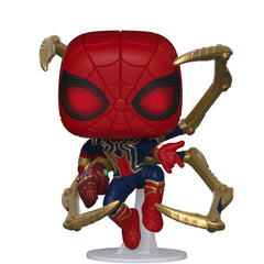 Funko Avengers End Game POP Iron Spider With Nano Gauntlet Vinyl Figure