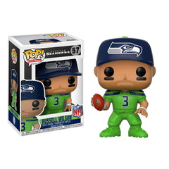Funko Football POP Russell Wilson Color Rush Vinyl Figure