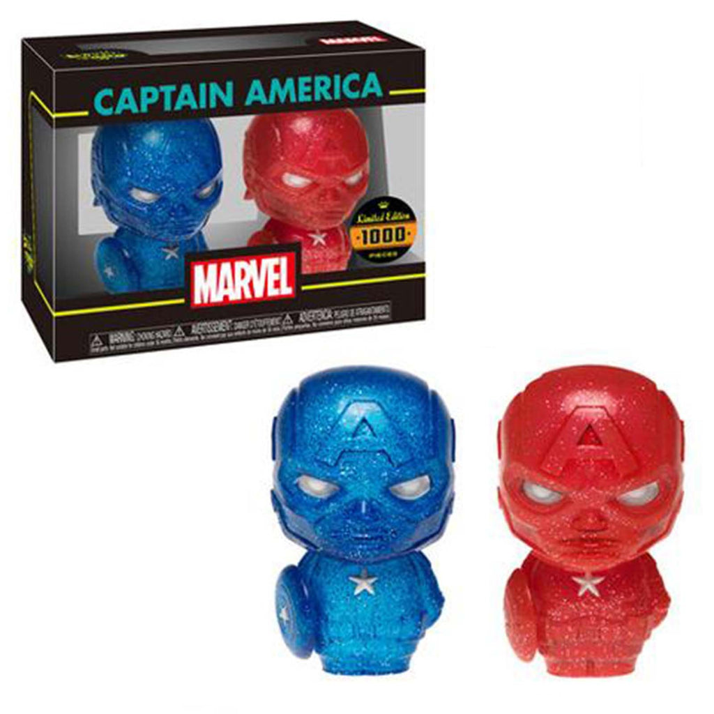 Funko Hikari XS Marvel Captain America Red And Blue Figure Set