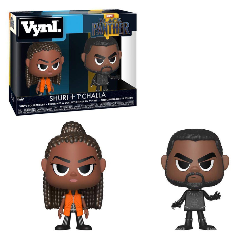 Funko Marvel Black Panther Vynl Shuri T'Challa Figure Set