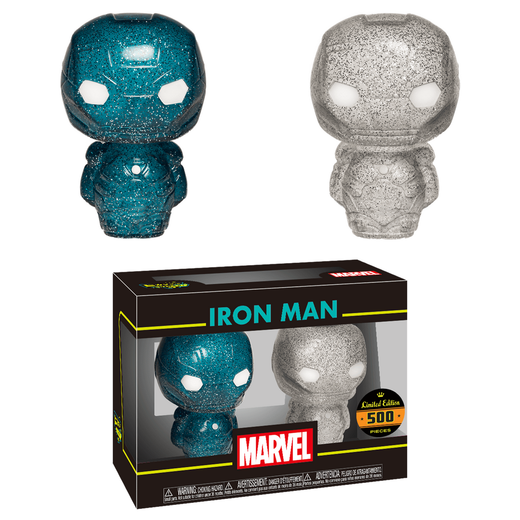 Funko Marvel Hikari XS Iron Man Blue Silver Figure Set