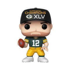 Funko NFL Green Bay Packers POP Aaron Rodgers SB Champs XLV Figure