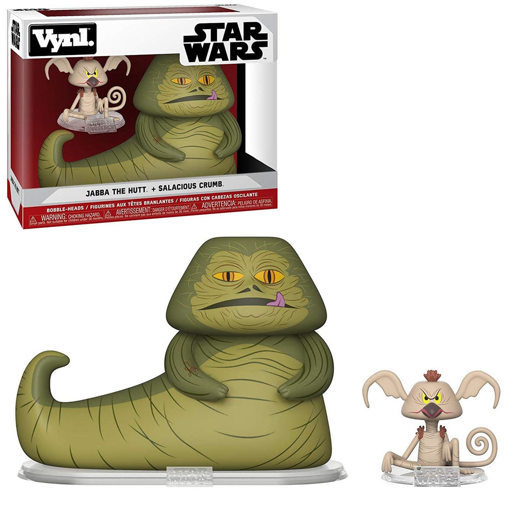 Funko Star Wars Vynl Jabba The Hutt Salacious Crumb Figure Set