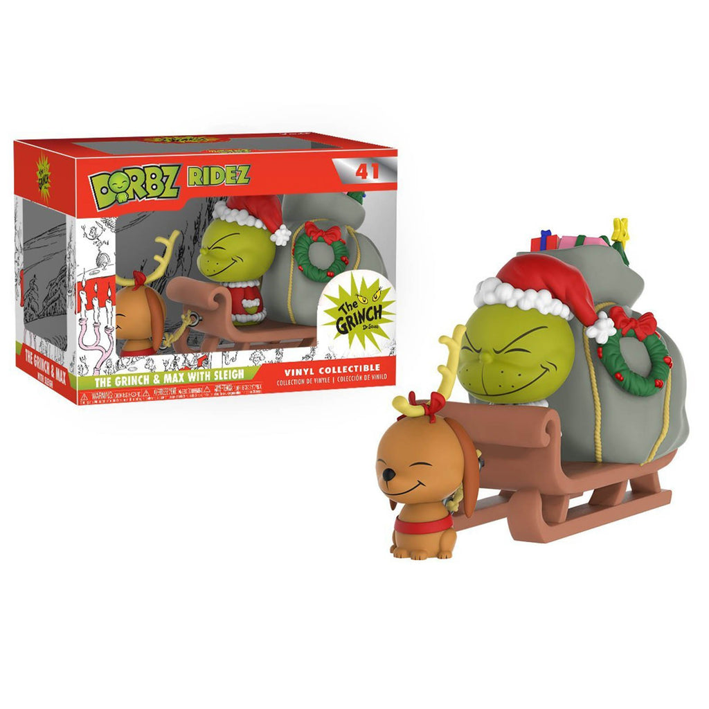 Funko The Grinch Dorbz Ridez Grinch And Max With Sleigh Vinyl Figure