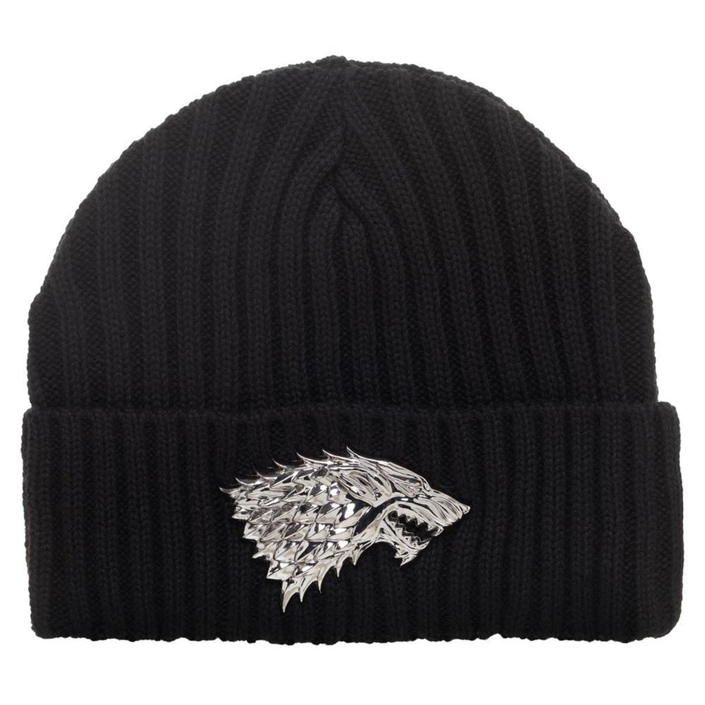 Game Of Thrones Black Knit House Stark Beanie