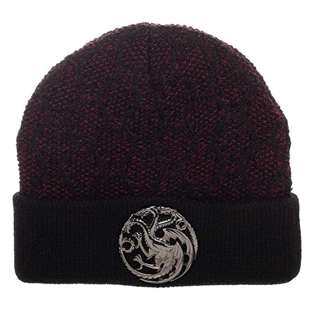 Game Of Thrones Black Knit House Targaryen Beanie