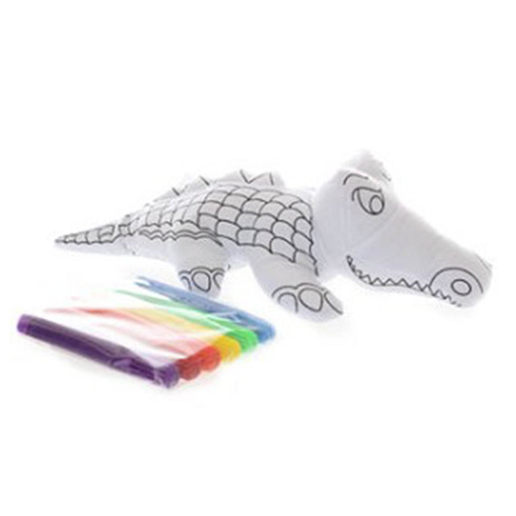 Ganz Crocodile 10 Inch Plush Mini Coloring Kit
