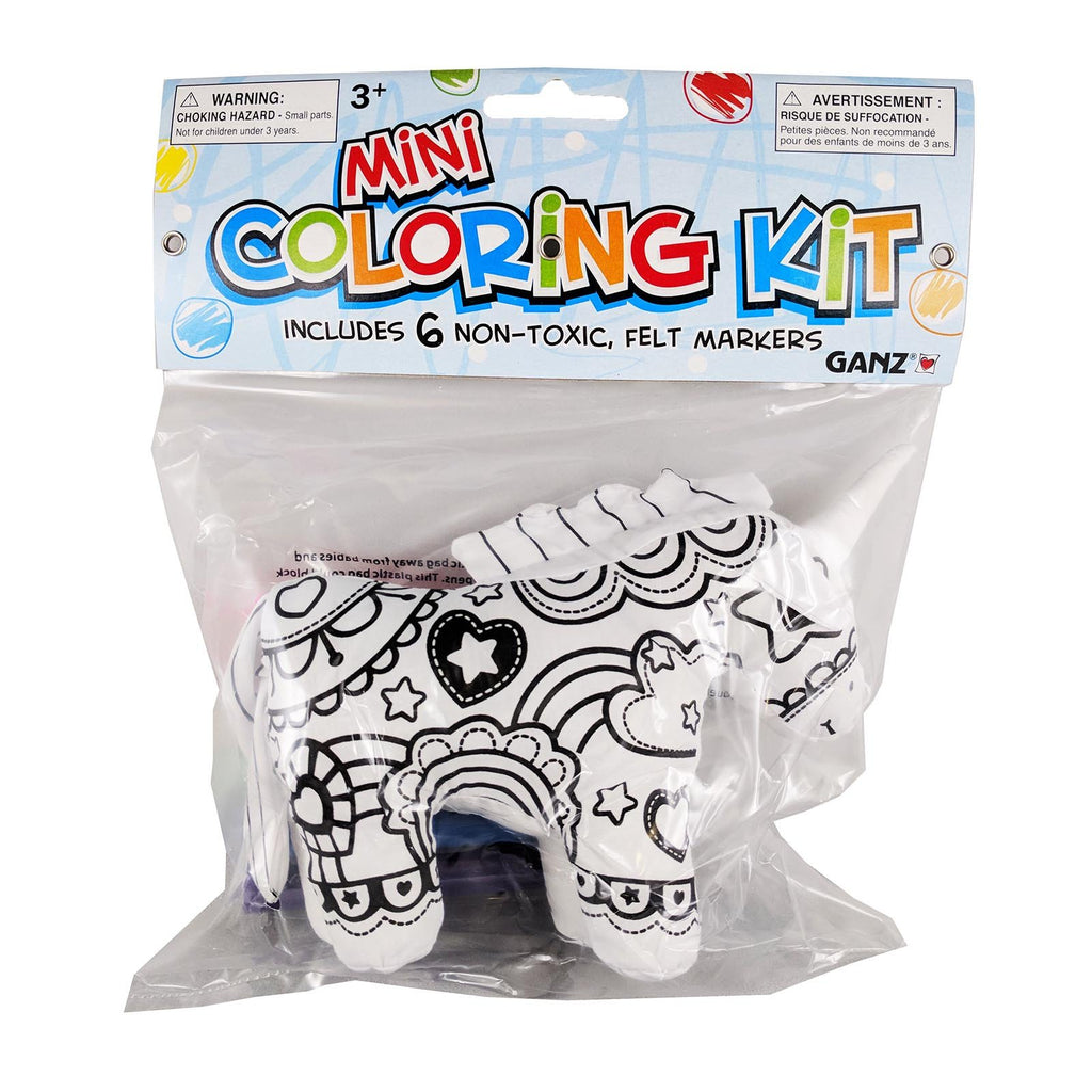 Ganz Unicorn 7 Inch Plush Mini Coloring Kit