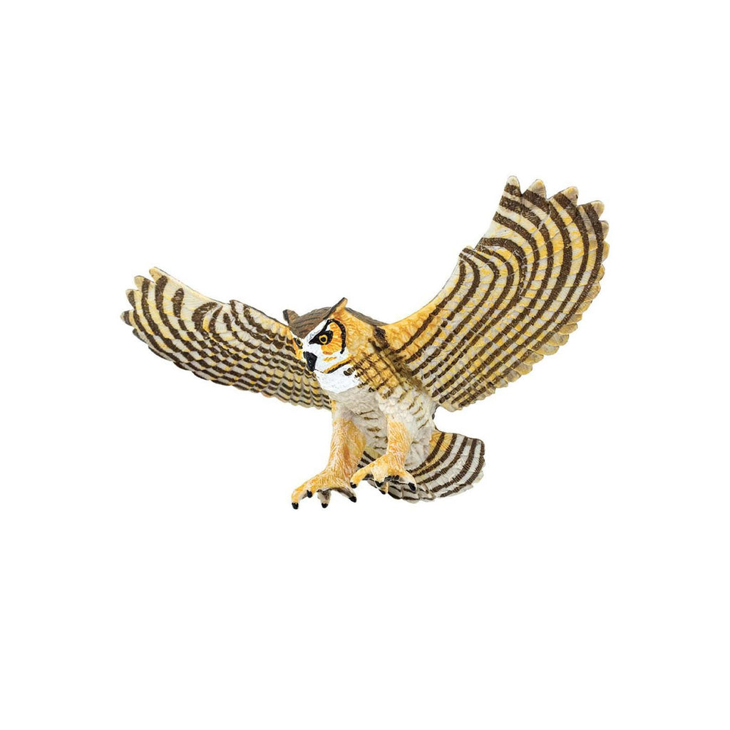 Great Horned Owl Wings Of The World Birds Figure Safari Ltd