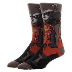 Socks - Guardians Of The Galaxy Rocket Character Collection One Pair Of Crew Socks