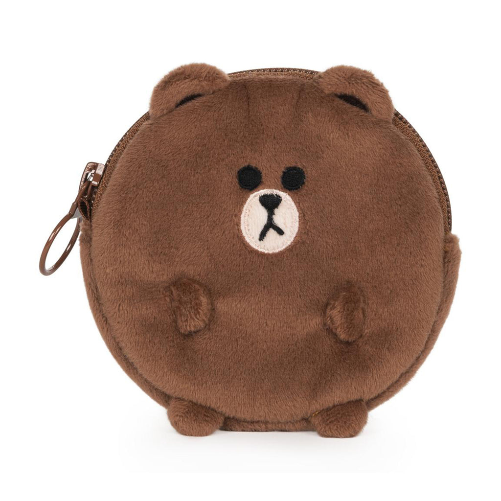 Gund Line Friends Brown Coin Purse Plush Figure