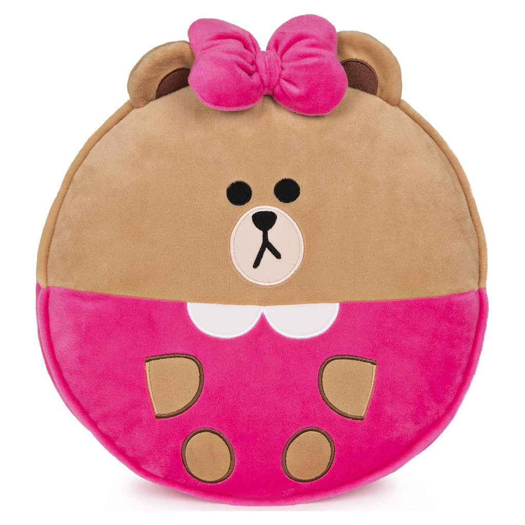 Gund Line Friends Chocolate Plush Pillow 6058941