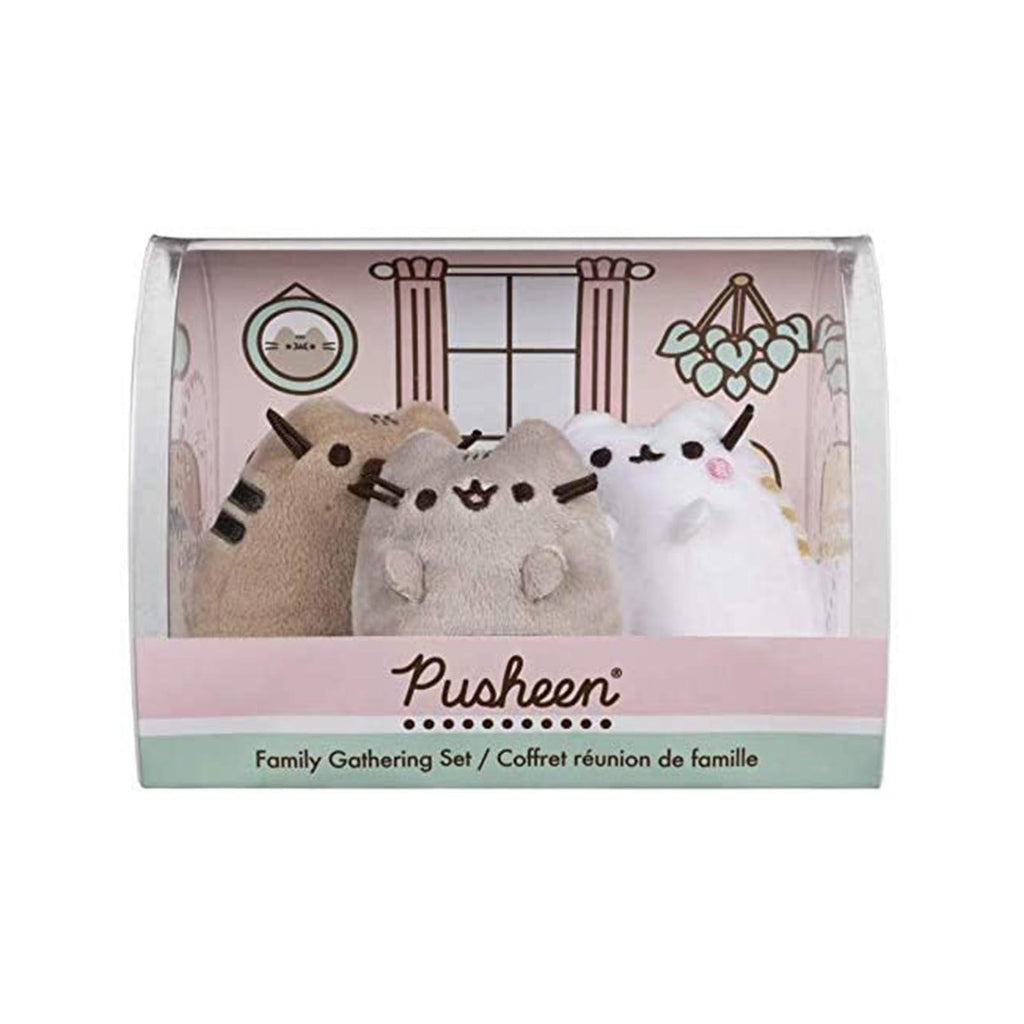 Gund Pusheen Family Gathering Collector 3 Plush Figure Set