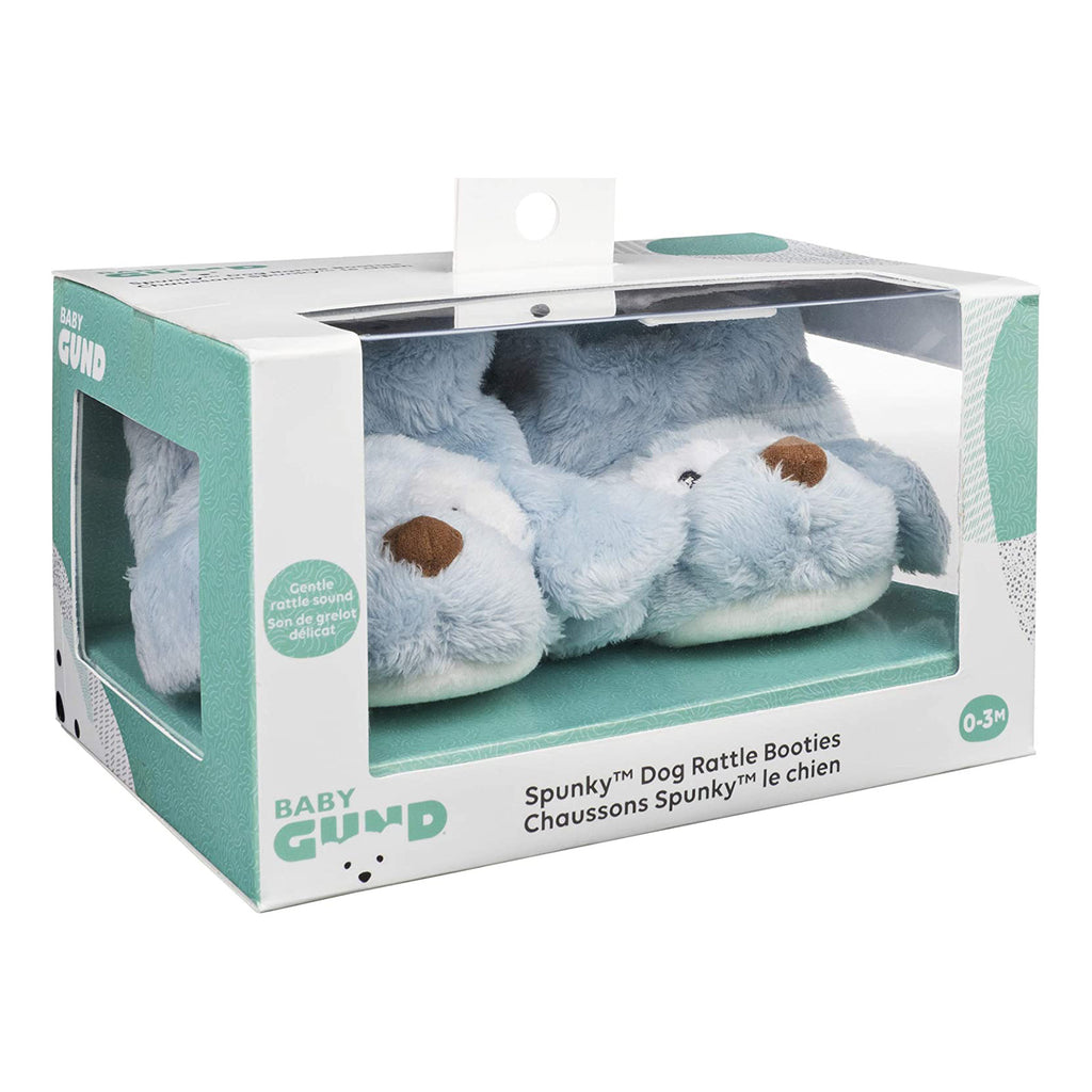 Gund Spunky Dog Rattle Plush Booties
