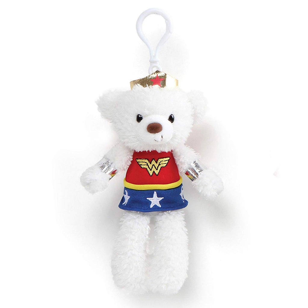 Gund DC Universe Wonder Woman 6.5 Inch Plush Bear Figure Clip