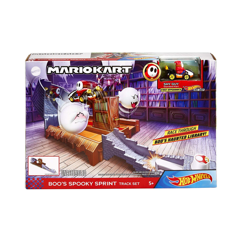Hot Wheels Mario Kart Boo's Spooky Sprint Track Set