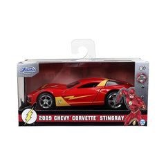 Jada Toys DC Flash 2009 Chevy Corvette Stingray 1:32 Diecast Car