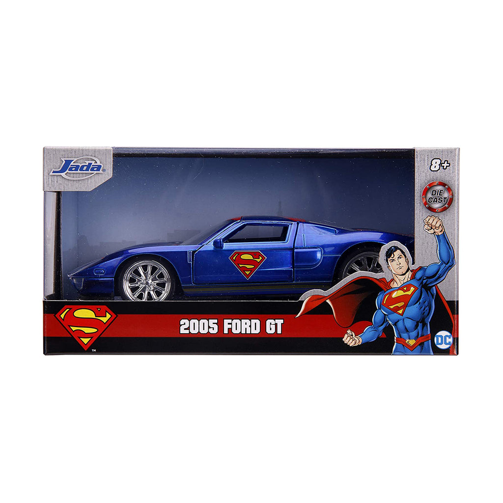 Jada Toys DC Superman 2005 Ford GT 1:32 Diecast Car