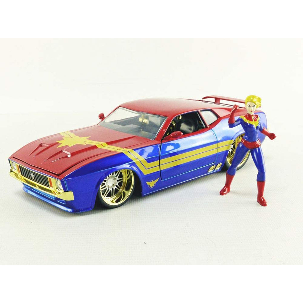 Jada Toys Marvel Avengers Captain Marvel & 1973 Ford Mustang Mach 1 1:24 Diecast Car