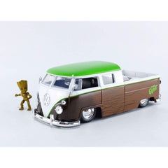 Jada Toys Marvel Groot & 1963 Volkswagen Bus Pickup 1:24 Diecast Car