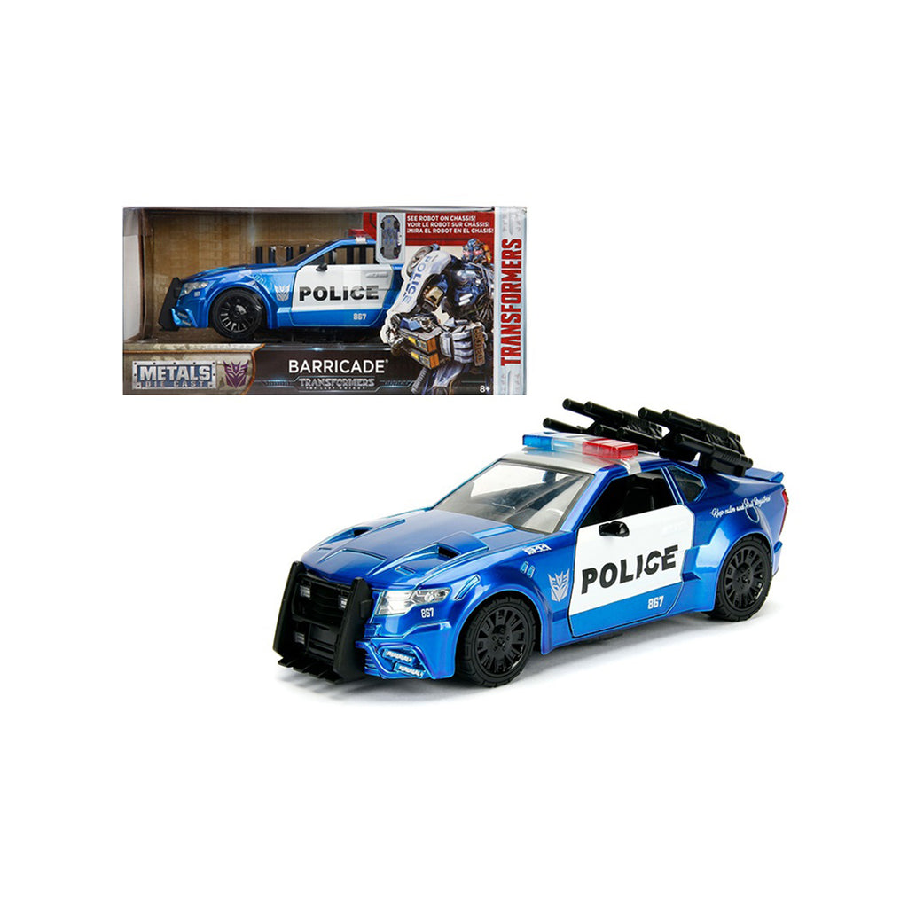 Jada Toys Transformers Barricade Police Vehicle 1:24 Diecast Car