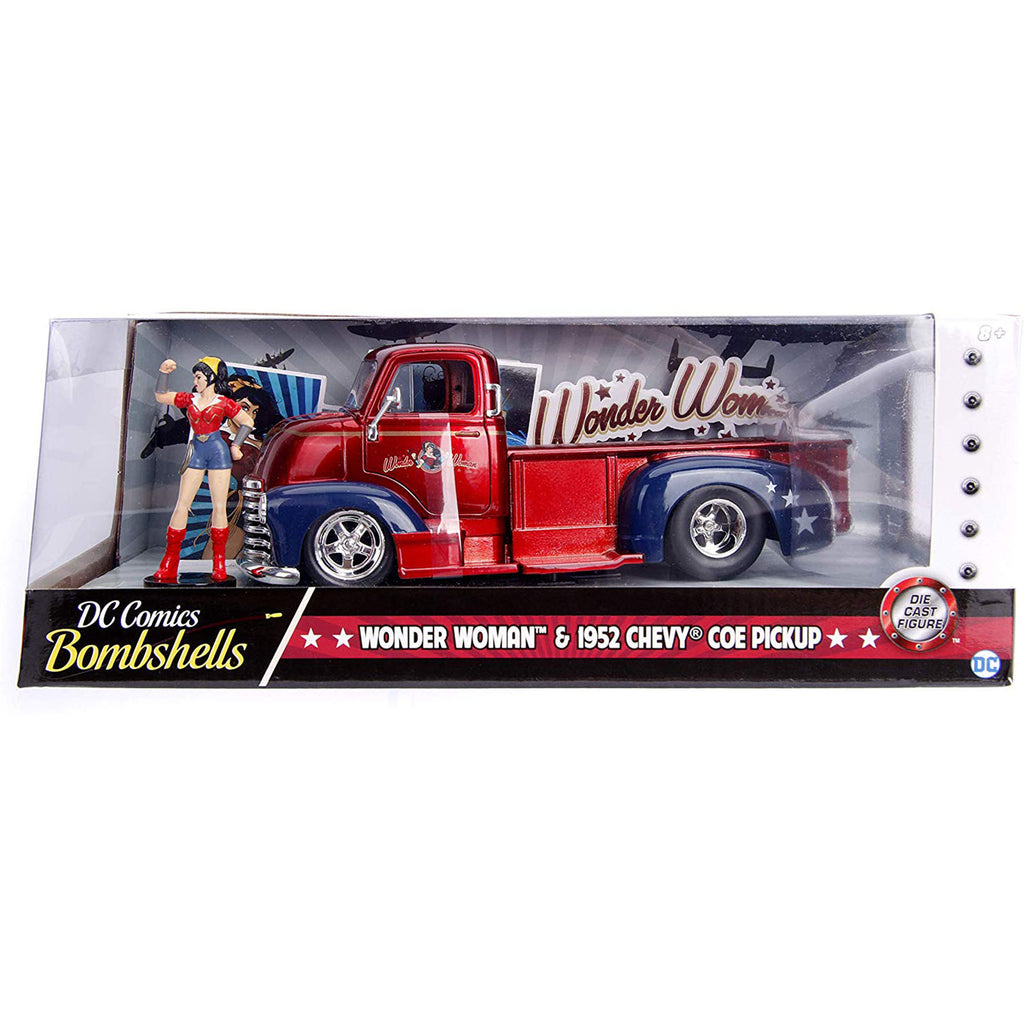 Jada Toys DC Bombshells Wonder Woman 1952 Chevy Truck Die Cast Set