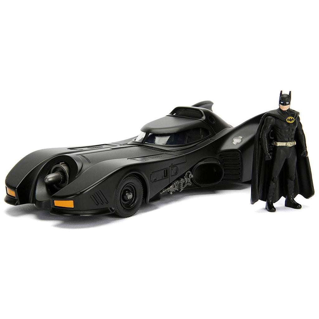 Jada Toys DC Hollywood Rides Build N' Collect 89' Batmobile Batman Set