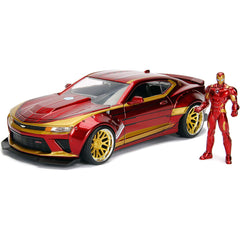 Jada Toys Hollywood Rides Avengers Iron Man 2016 Chevy Camaro Die Cast Car