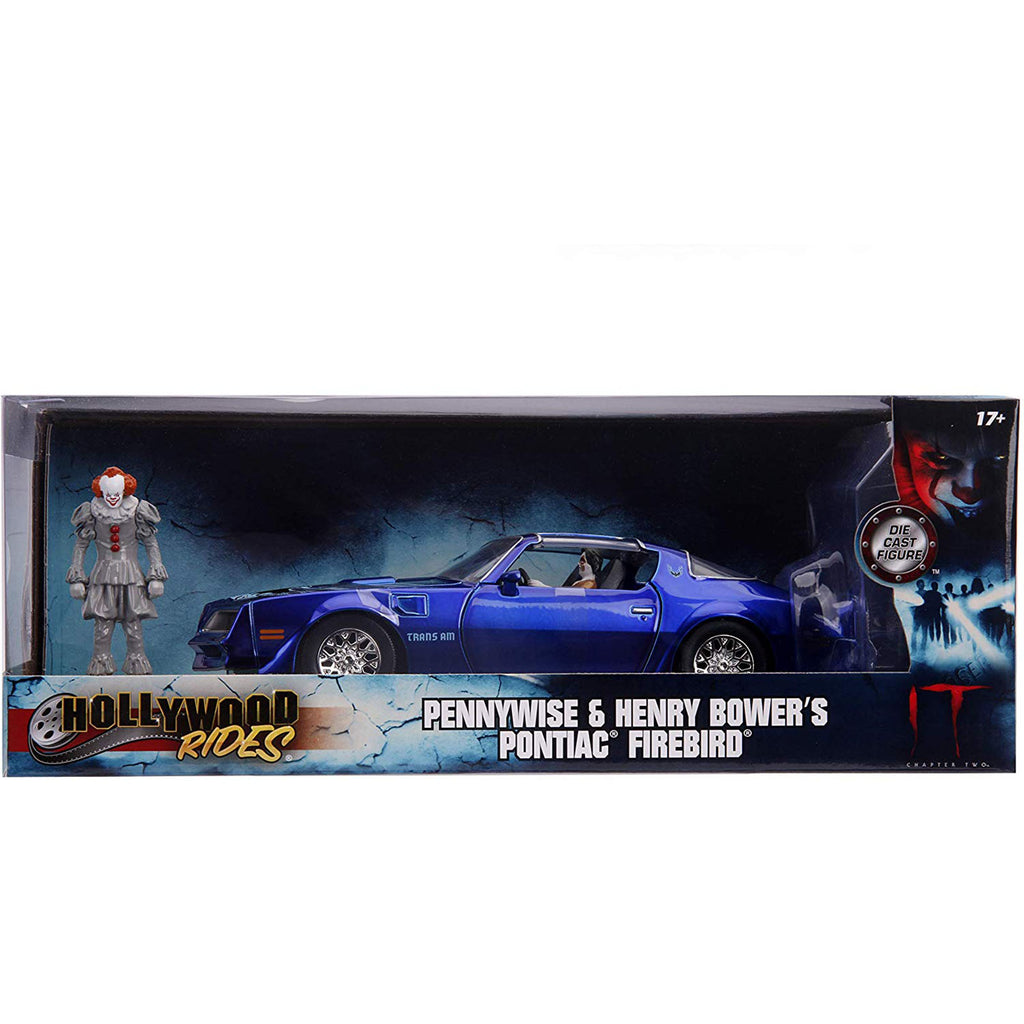 Jada Toys Hollywood Rides Pennywise Bower's Firebird Die Cast Set