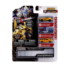 Jada Toys Nano Hollywood Rides Series 1 Transformers 3 Pack Set