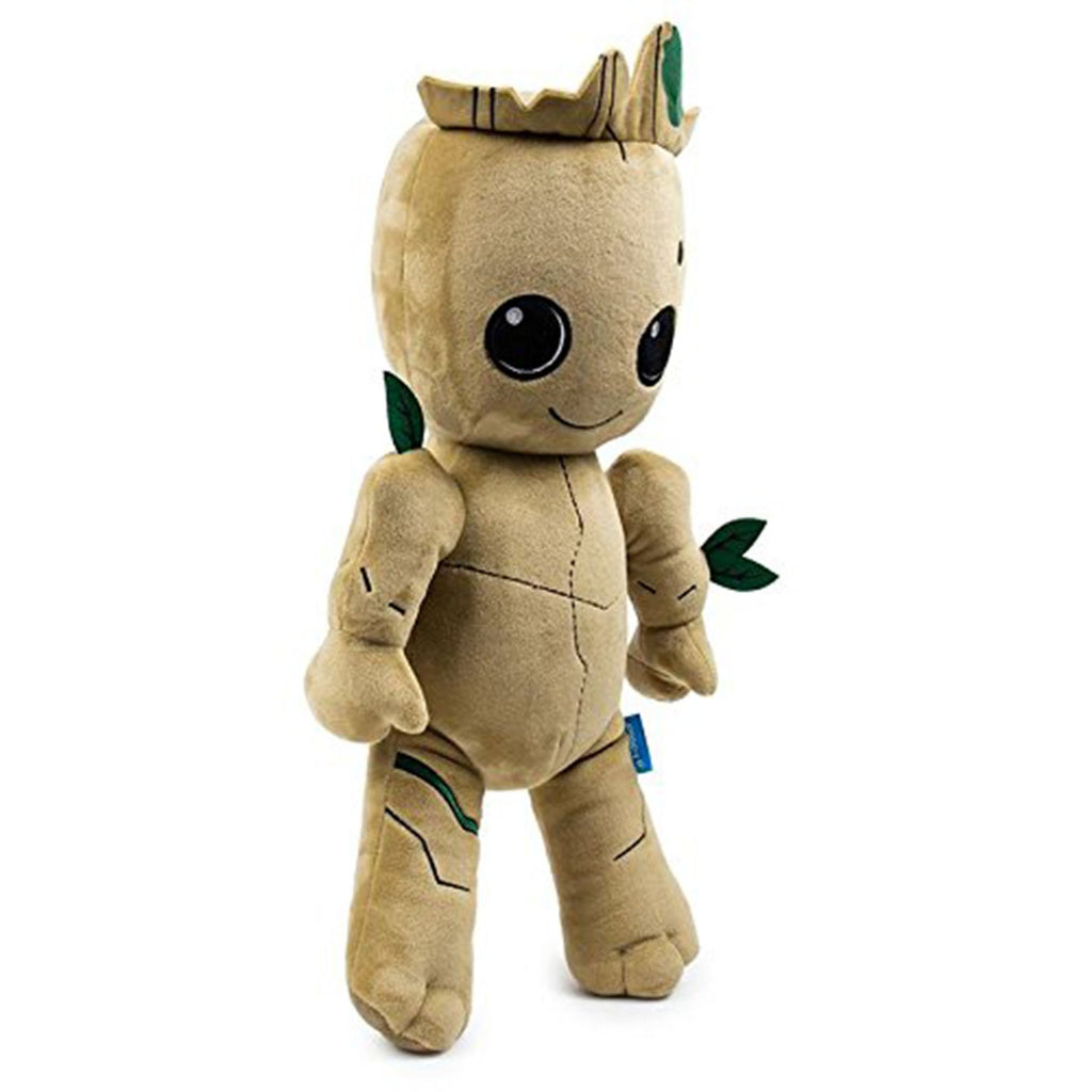 Superhero Plush Figures - Kidrobot Guardians Of The Galaxy HugMe Groot 16 Inch Plush Figure
