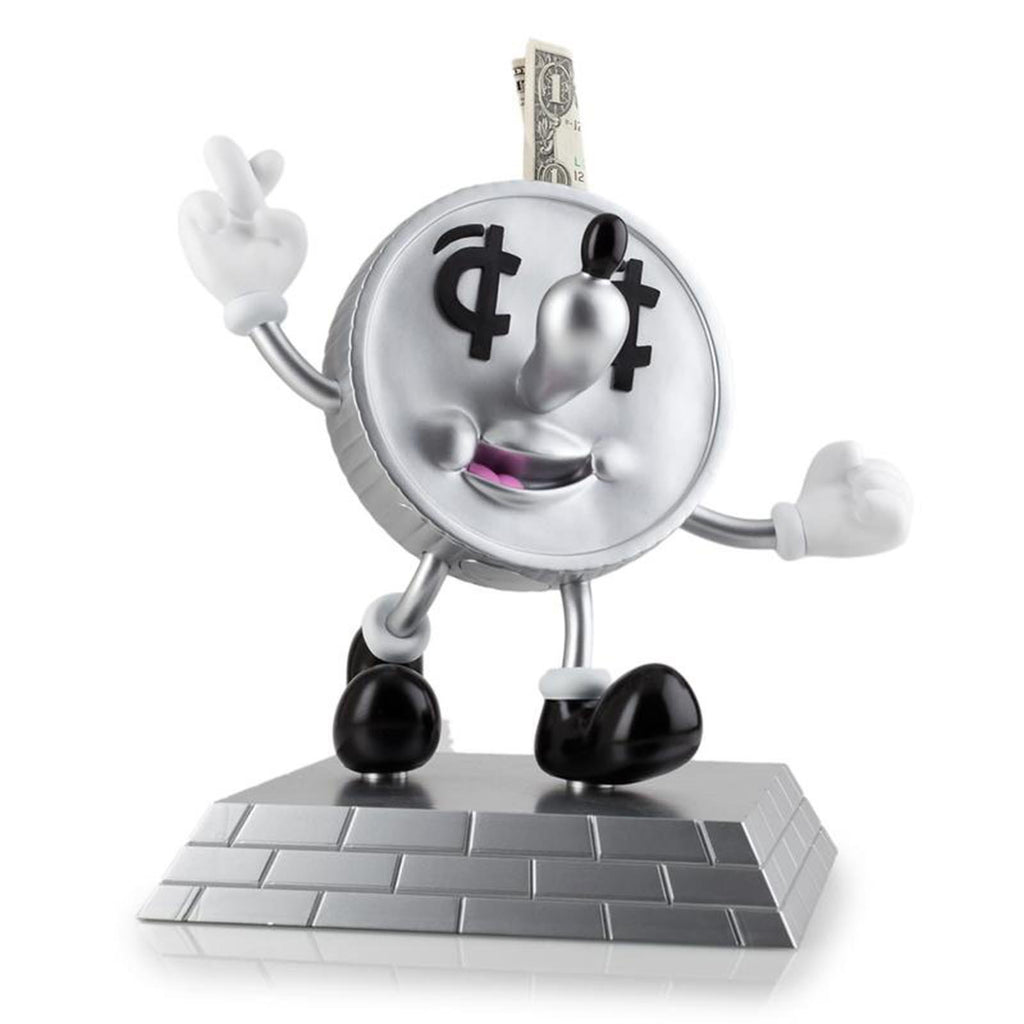 Kidrobot Lucky Money Dime Coin Bank 9 Inch Figure