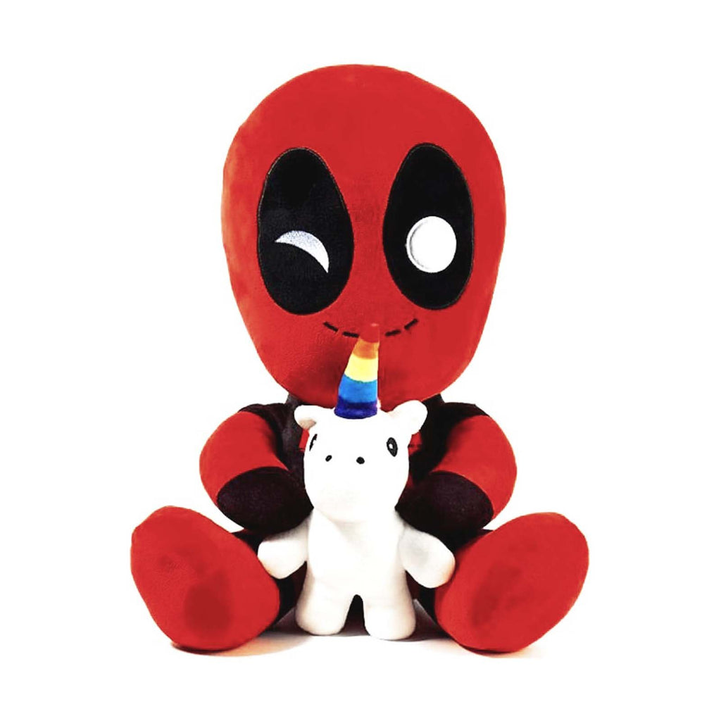 Kidrobot Marvel Phunny Deadpool With Unicorn Plush Figure
