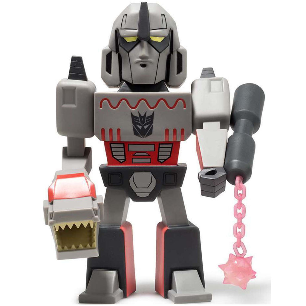 Kidrobot Transformers Vs G.I. Joe Medium Gray Megatron Vinyl Figure