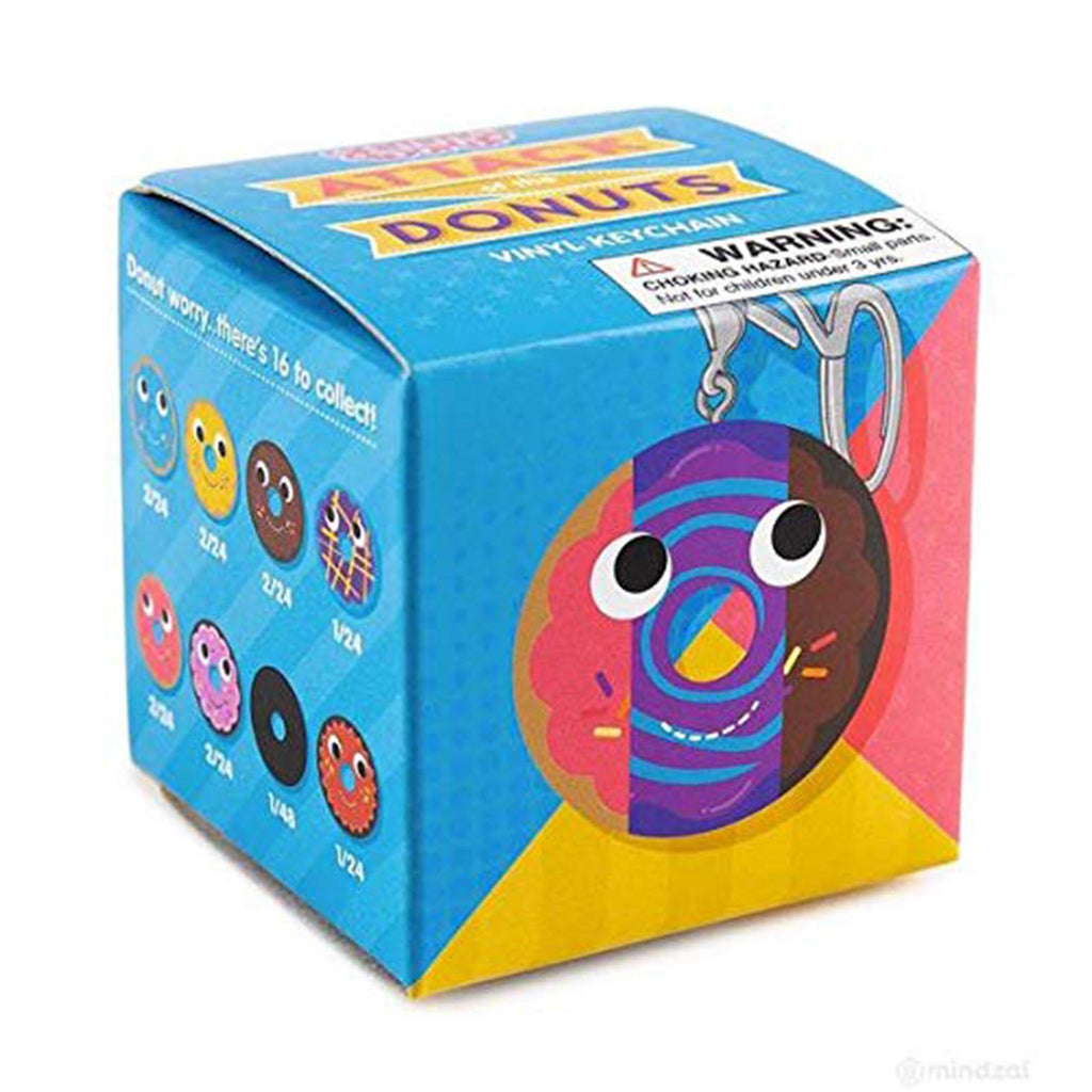 Kidrobot Yummy World Attack Of The Donuts Blind Box Keychain Figure